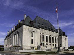 Supreme Court of Canada building in Ottawa, Canada