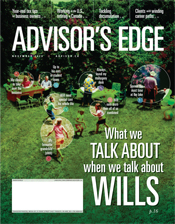 Advisor's Edge November 2018 cover