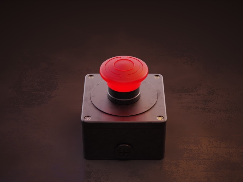 red emergency button